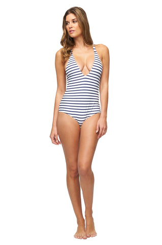 Marcos Maillot Print - Navy Stripe