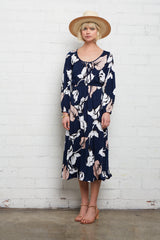Margo Dress - Navy Calla Print