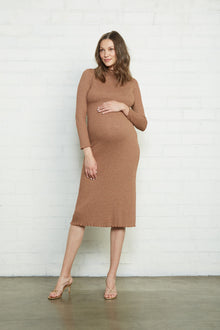 Metallic Rib Mara Dress - Maternity