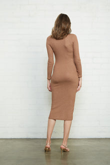 Metallic Rib Snap Front Dress - Maternity