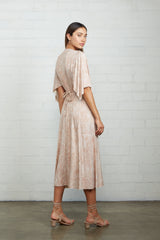 Mid-Length Caftan Dress - Snake
