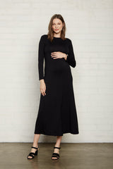 Mid-Length Stormy Dress - Black, Maternity