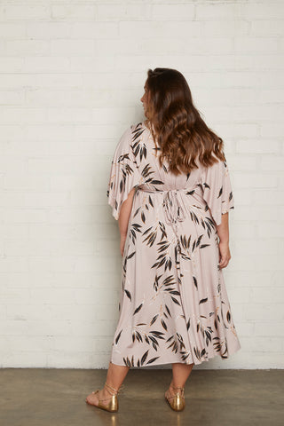 Mid-Length Caftan Dress - Cane, Plus Size