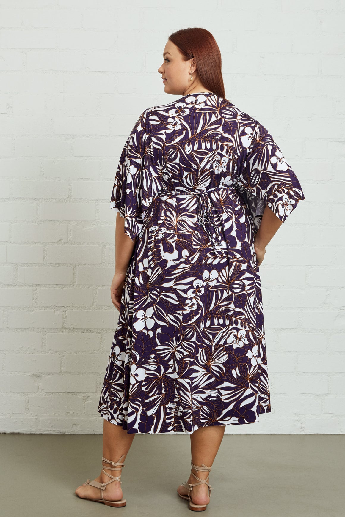 Mid-Length Caftan Dress, Plus Size