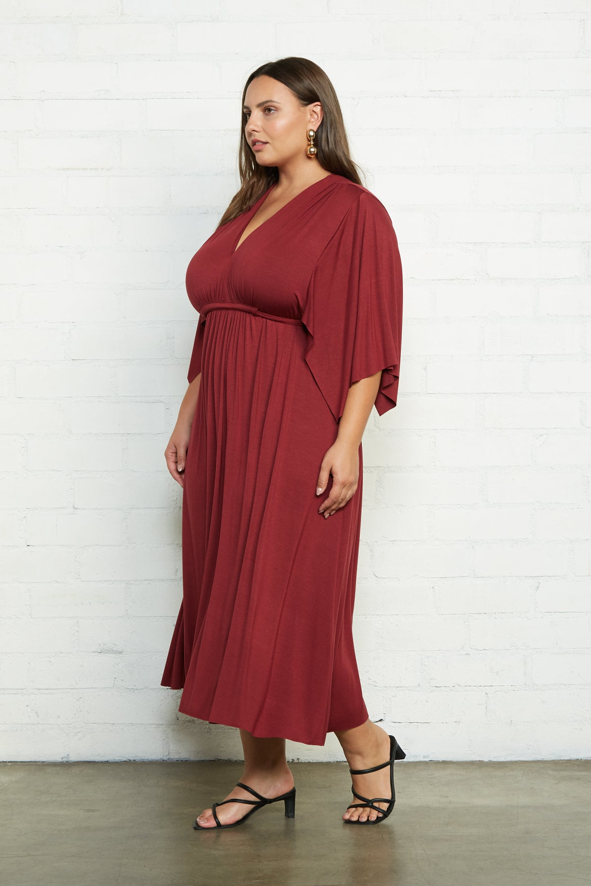 Mid-Length Caftan Dress - Gamay, Plus Size