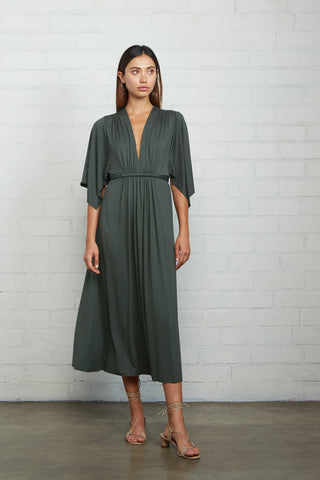 Mid-Length Caftan Dress - Juniper