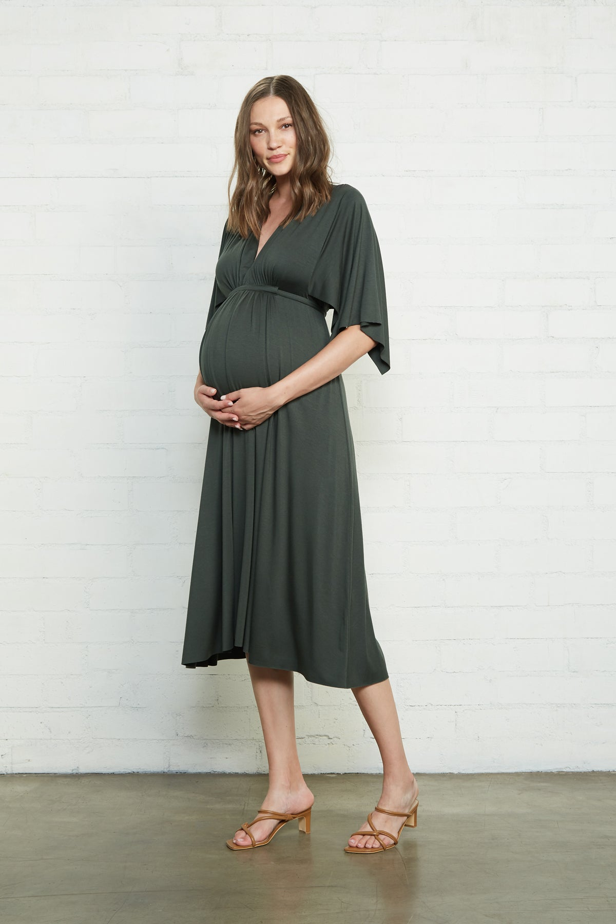 Mid-Length Caftan Dress - Juniper, Maternity