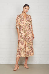 Mid-Length Caftan Dress - Palm
