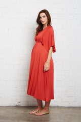 Mid-Length Caftan Dress - Poppy, Maternity