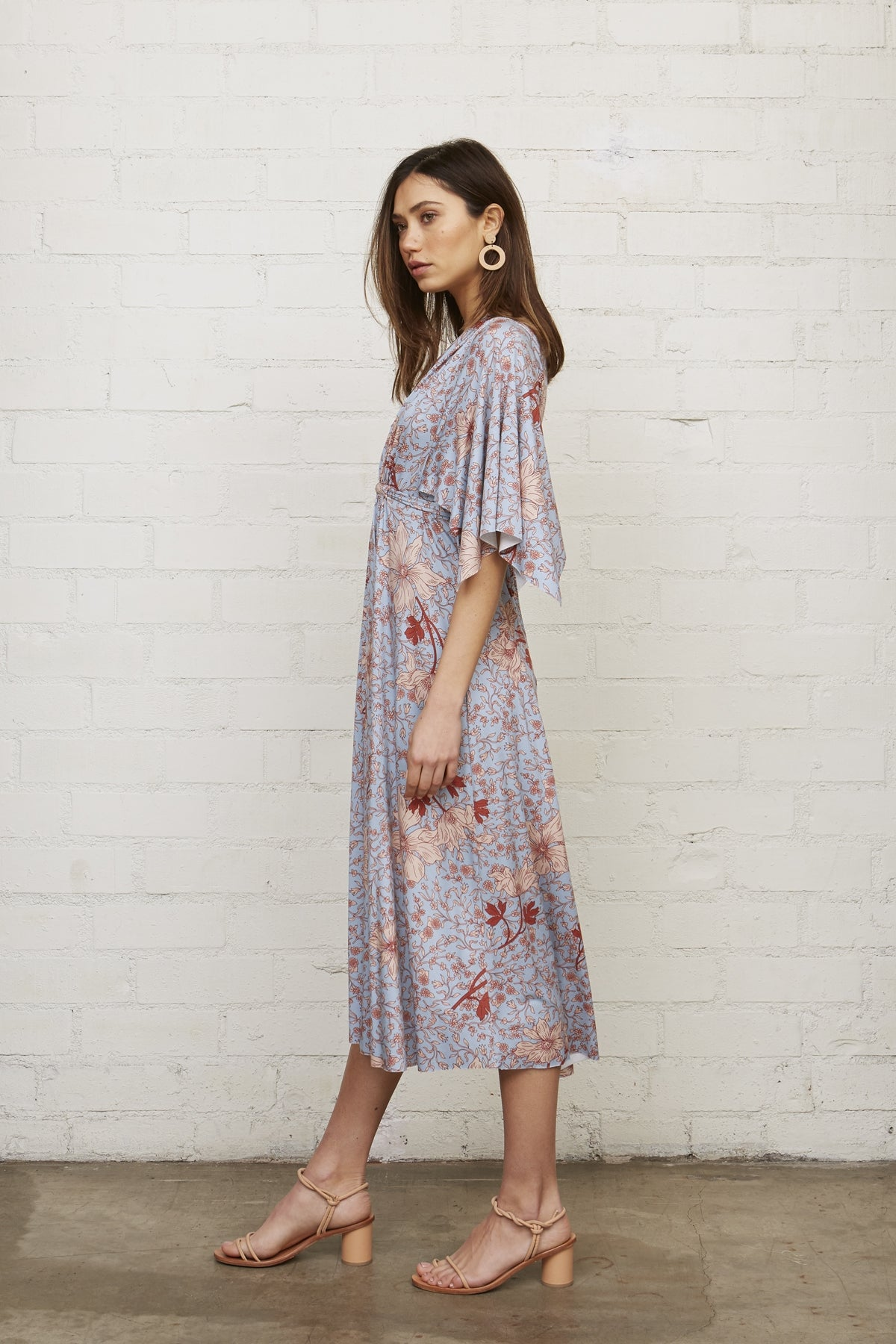 Mid-Length Caftan Dress - Prairie