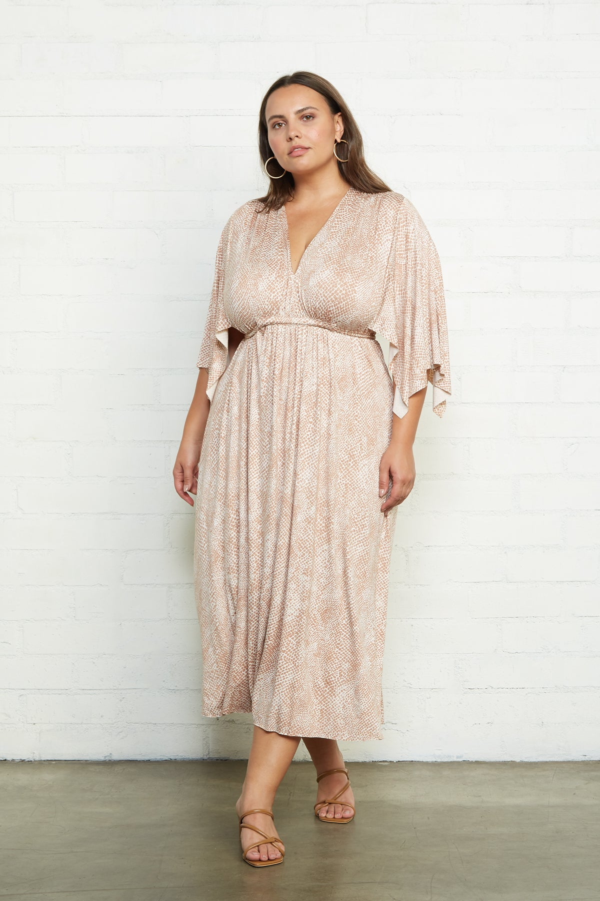Mid-Length Caftan Dress - Snake, Plus Size