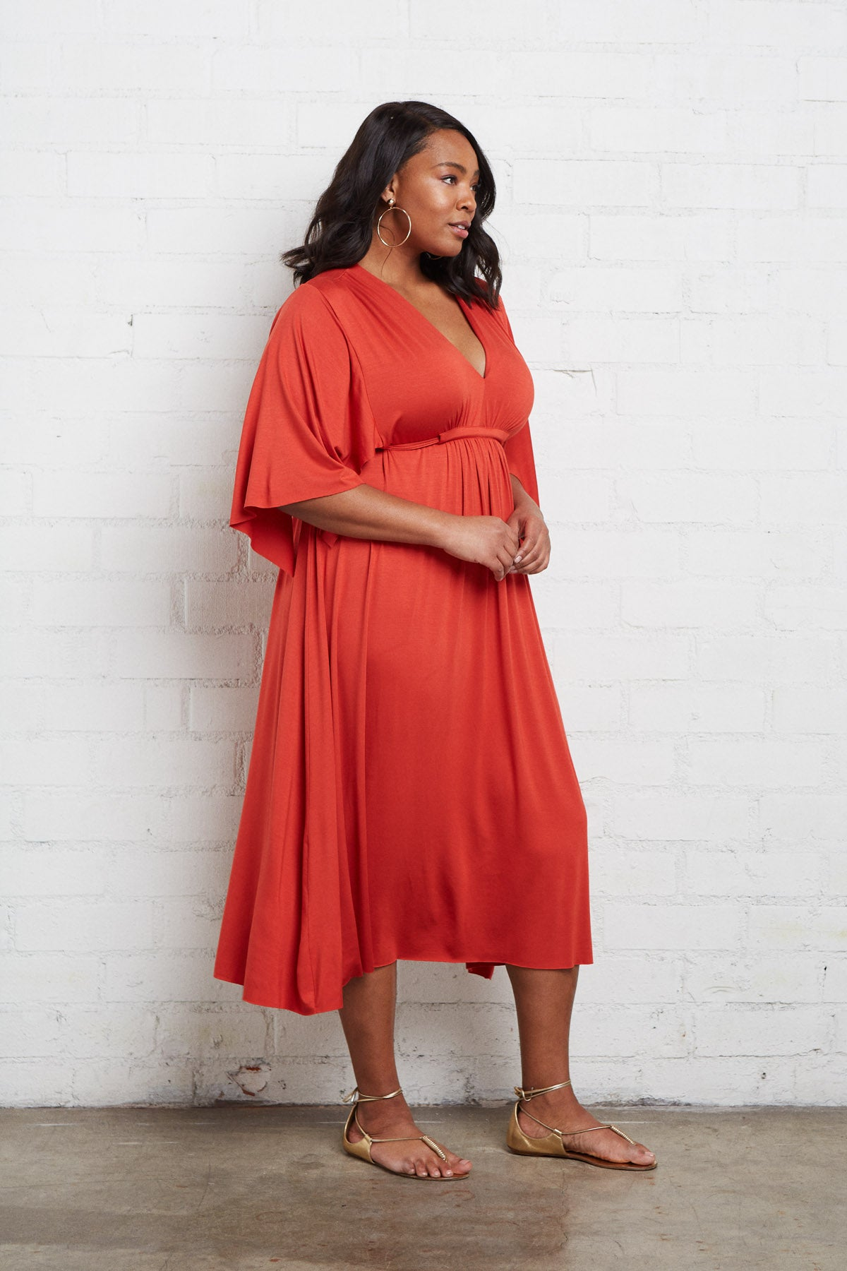 Mid-Length Caftan - Poppy, Plus Size