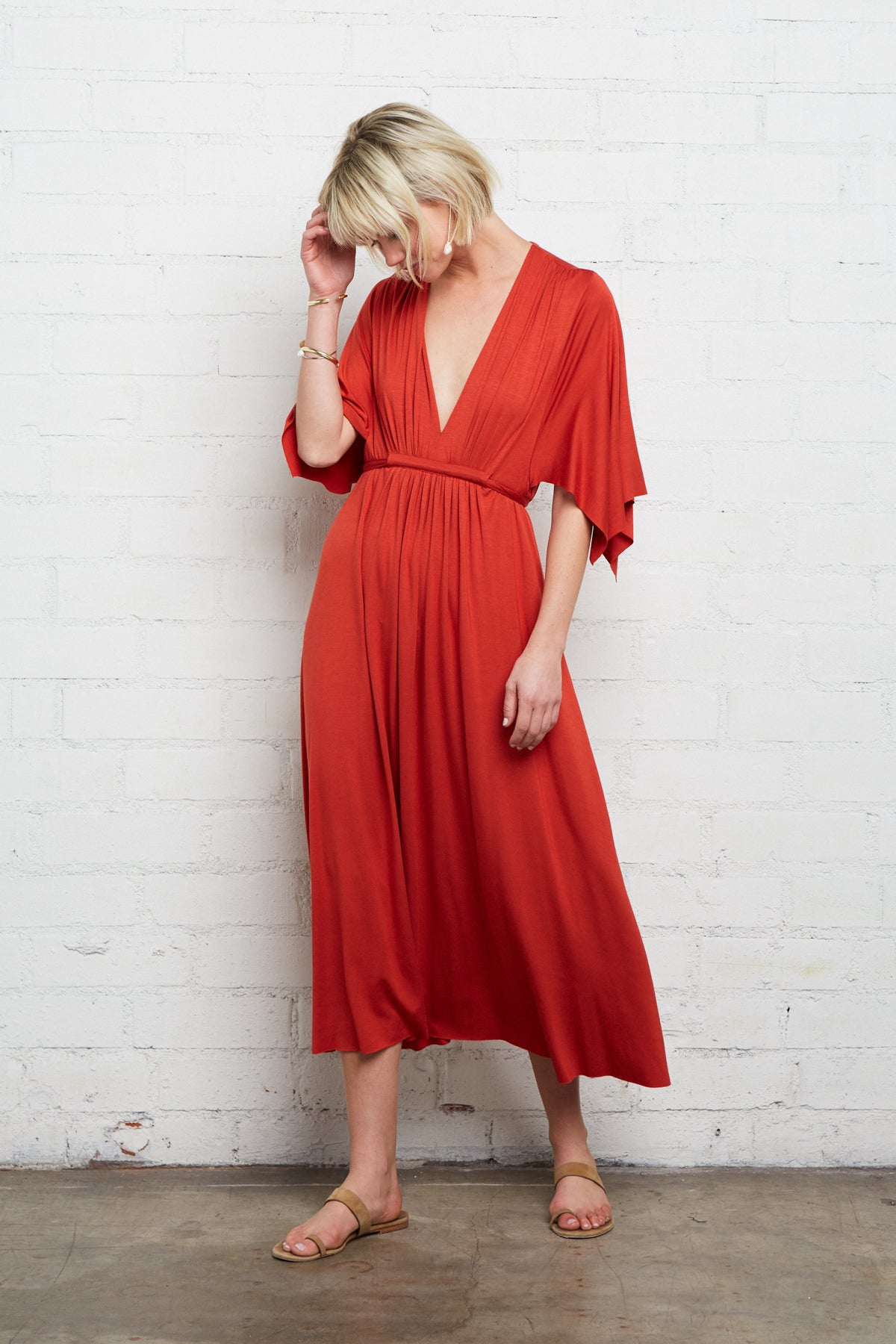 Mid-Length Caftan Dress - Poppy