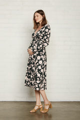Mid-Length Harlow Dress - Evergreen Floral, Maternity