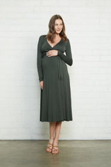 Mid-Length Harlow Dress - Juniper, Maternity