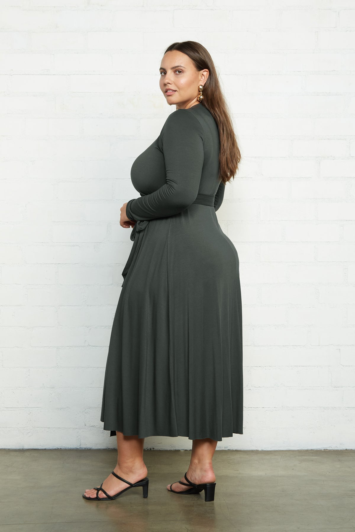 Mid-Length Harlow Dress - Juniper, Plus Size