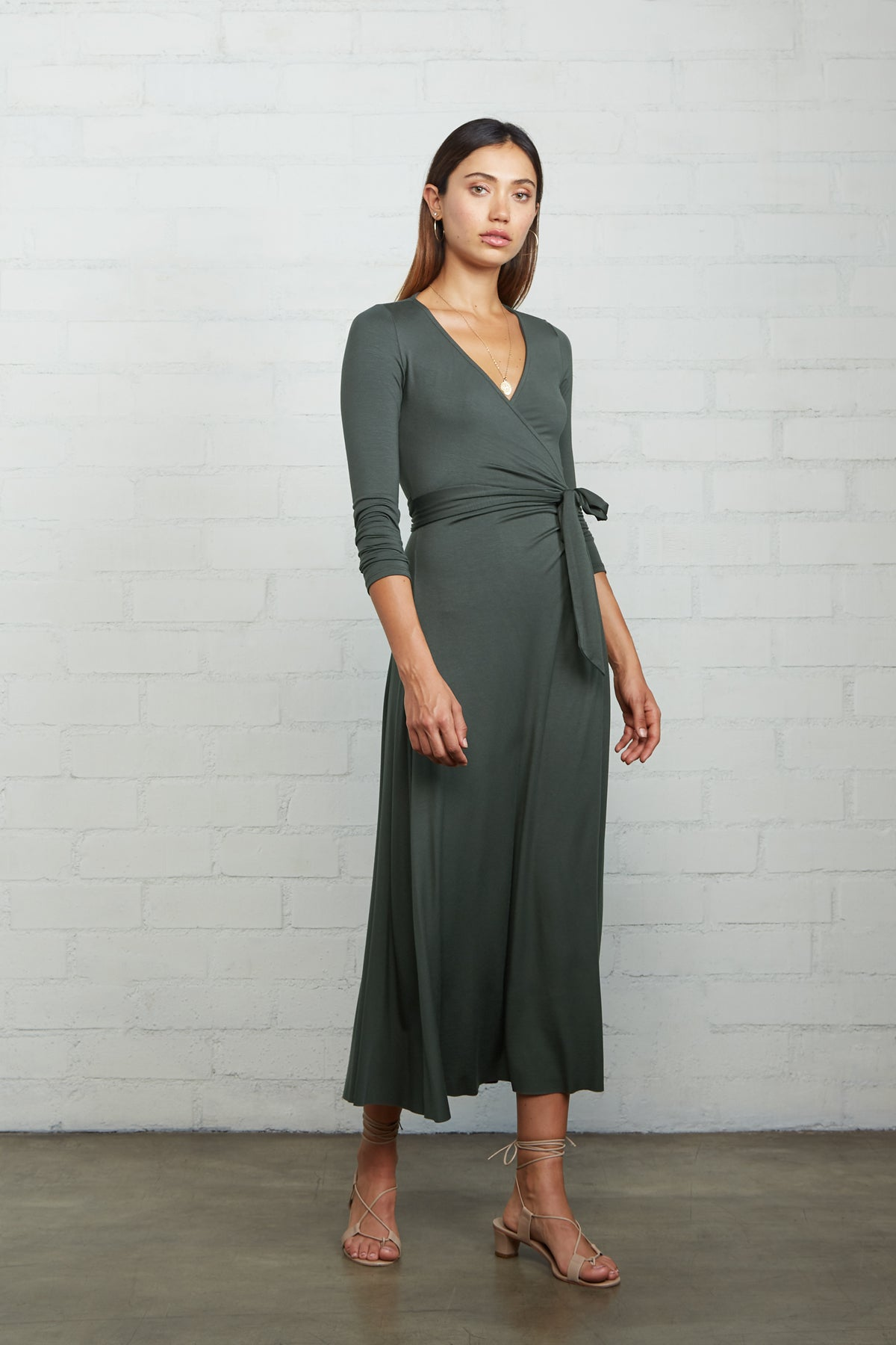 Mid-Length Harlow Dress - Juniper