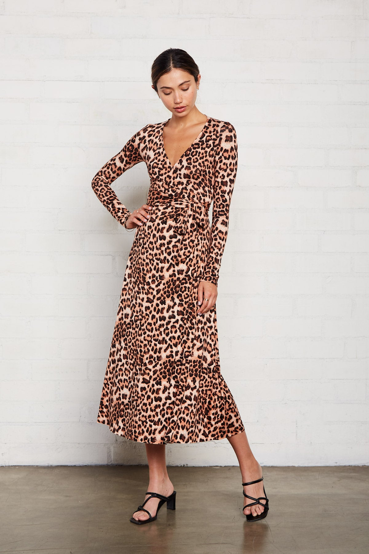 Mid-Length Harlow Dress - Leopard