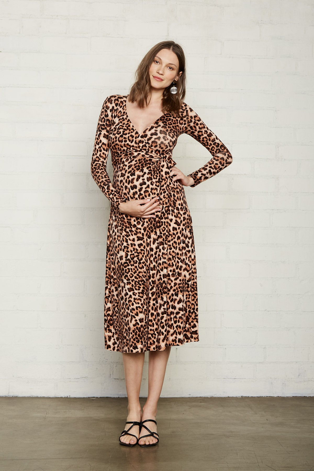 Mid-Length Harlow Dress - Leopard, Maternity