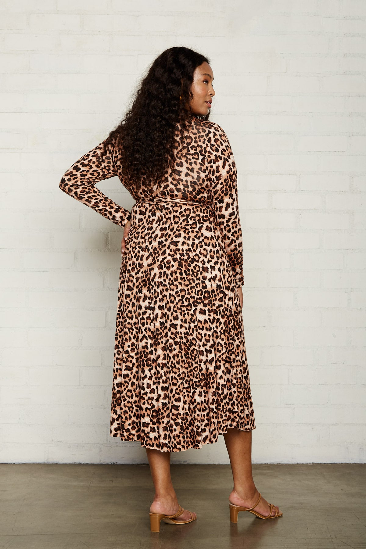 Mid-Length Harlow Dress - Leopard, Plus Size