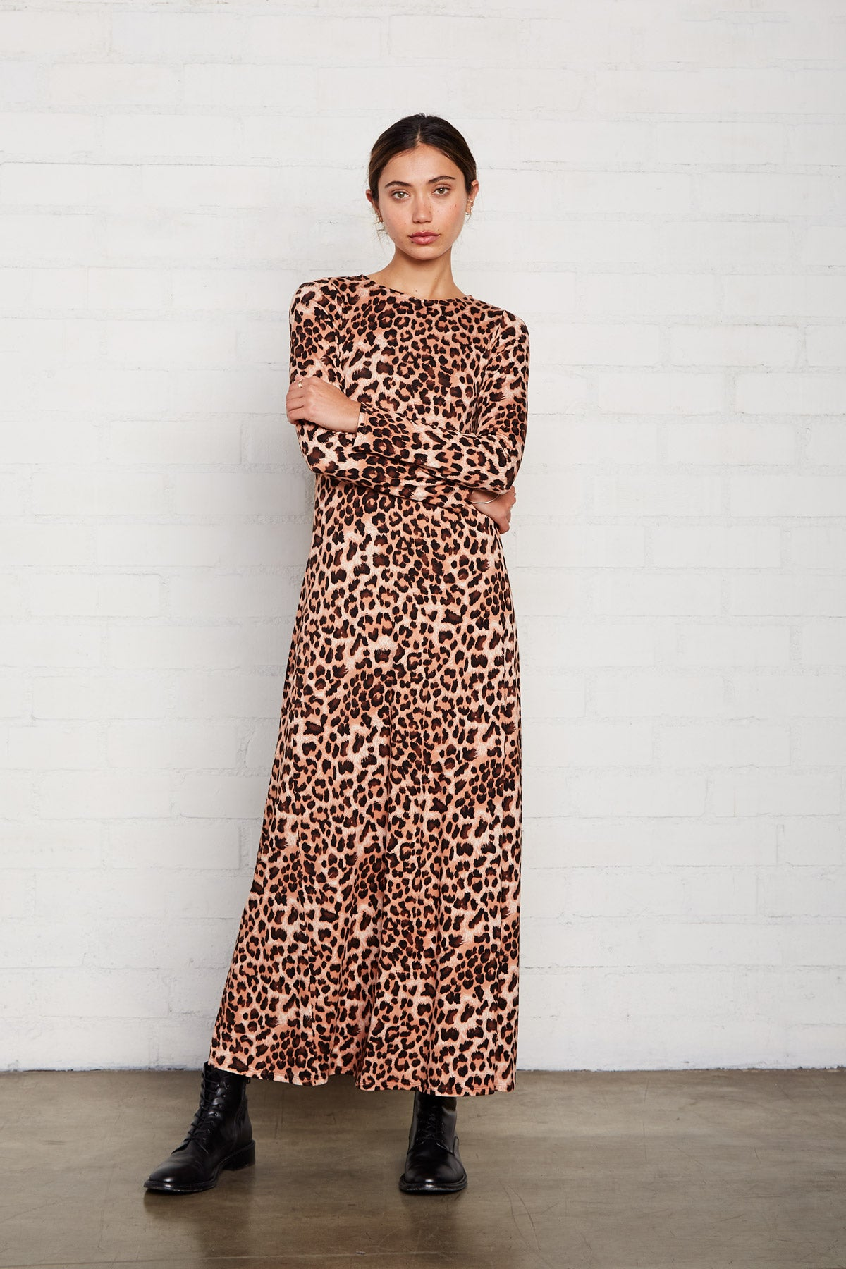 Mid-Length Stormy Dress - Leopard