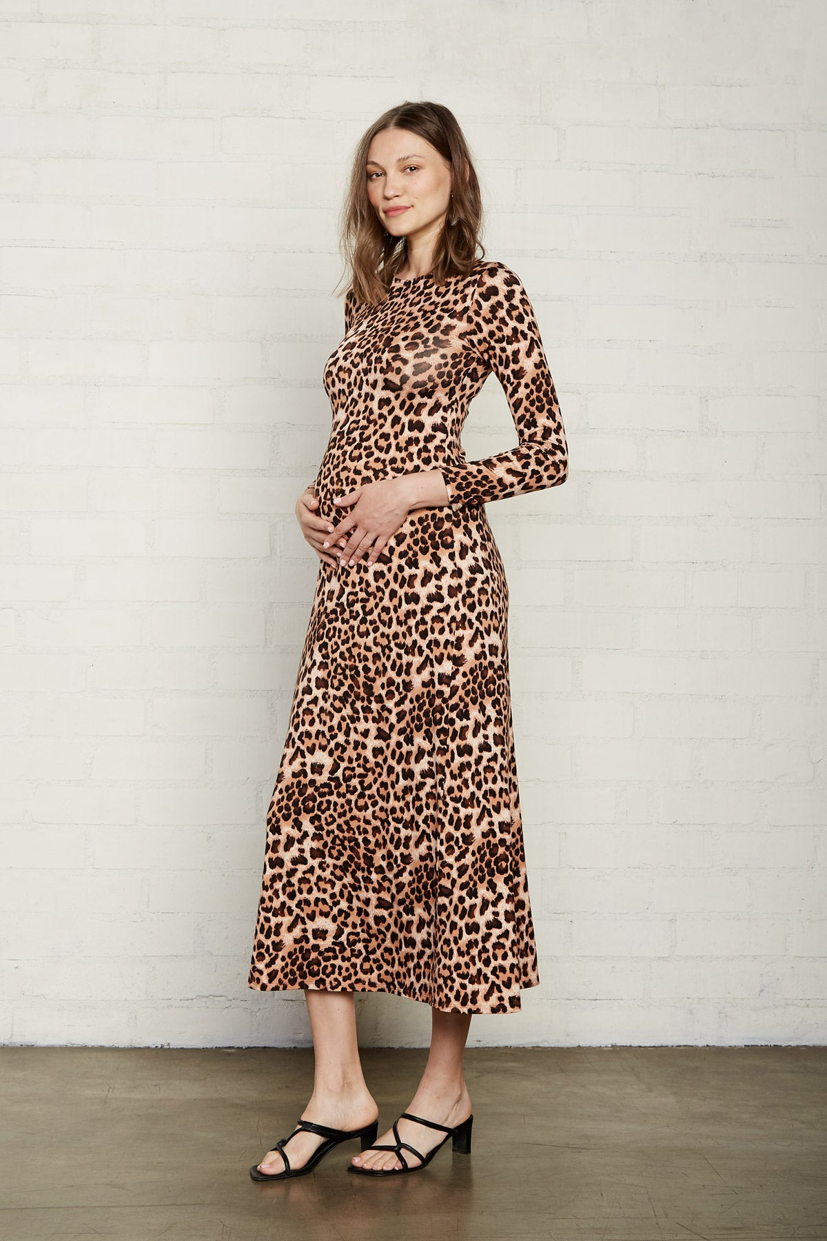 Mid-Length Stormy Dress - Leopard, Maternity