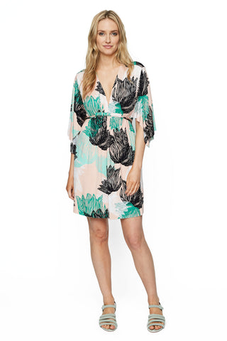 Mini Caftan Dress Print - Agave