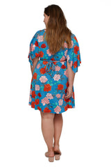 Mini Caftan - Rose, Plus Size