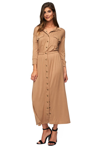 Mirette Dress - Sandstone