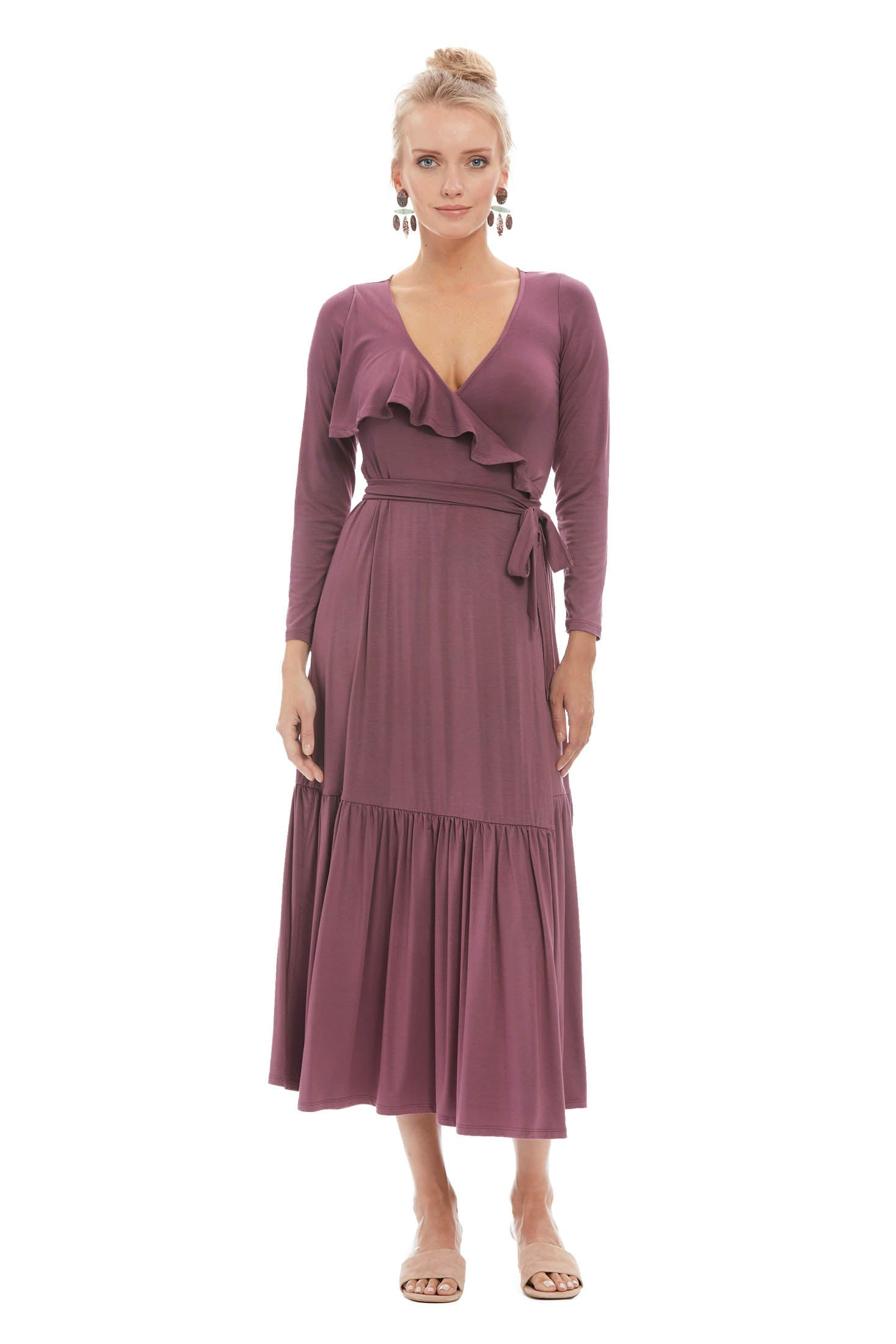 Nadine Wrap Dress - Cameo