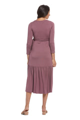 Nadine Wrap Dress - Cameo, Maternity