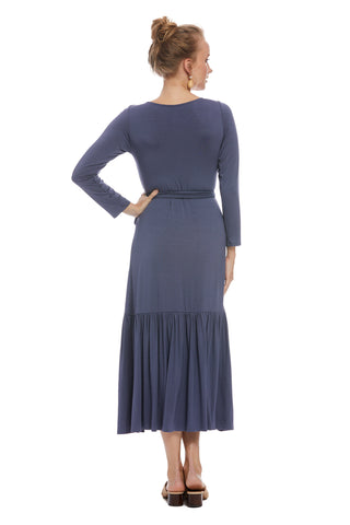 Nadine Wrap Dress - Slate