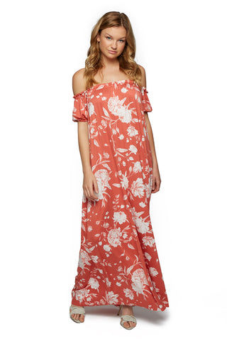 Ossiane Dress Print - Chipotle Peony