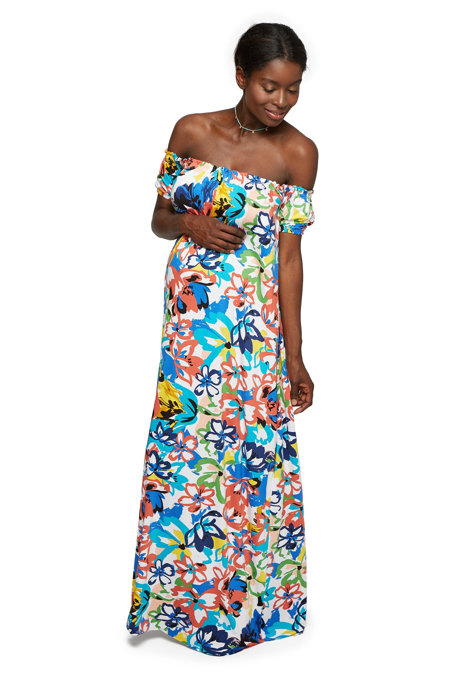 Ossiane Dress Print - Flores