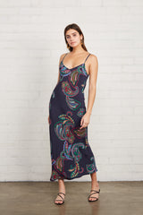 Crepe Bias Slip Dress - Paisley