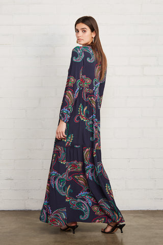 Crepe Carina Dress - Paisley