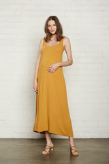 Pucker Rayon Fiona Dress - Honey, Maternity