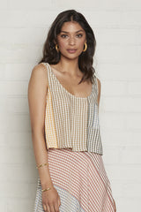 Pocket Tank - Ombre Check Voile