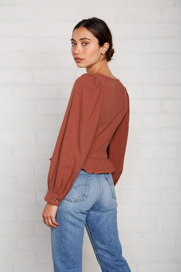 Linen Canvas Portia Top