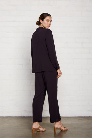 Pucker Rayon Mikko Pant - Faded Black