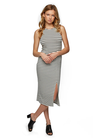 Quimby Dress - Black / White Stripe