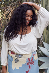 Walsh Top - White, Plus Size