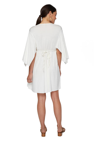 MINI CAFTAN DRESS - WHITE