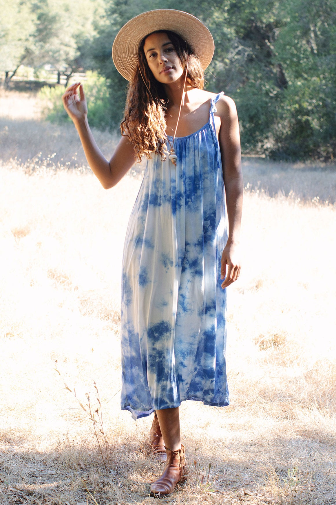 Rayon Tie-Die Caity Dress