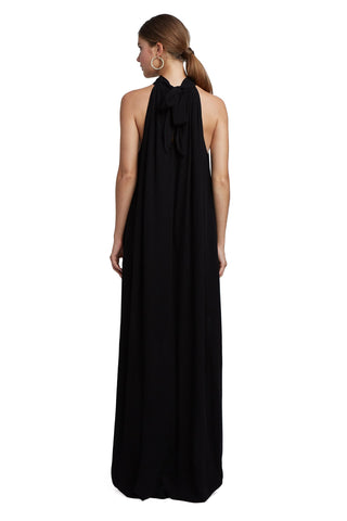 Rayon Martine Dress - Black