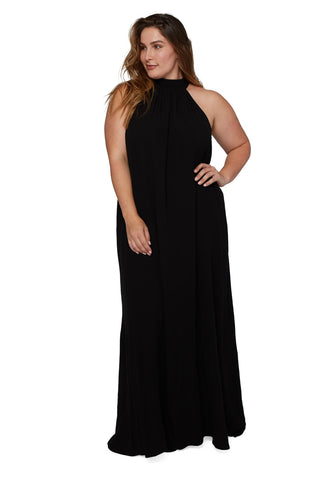 Rayon Martine Dress - Black, Plus Size