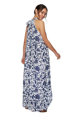Rayon Martine Dress- Painted Floral