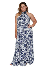 Rayon Martine Dress - Painted Floral, Plus Size