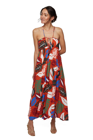 Reversible Crepe Eli Dress - Leaf