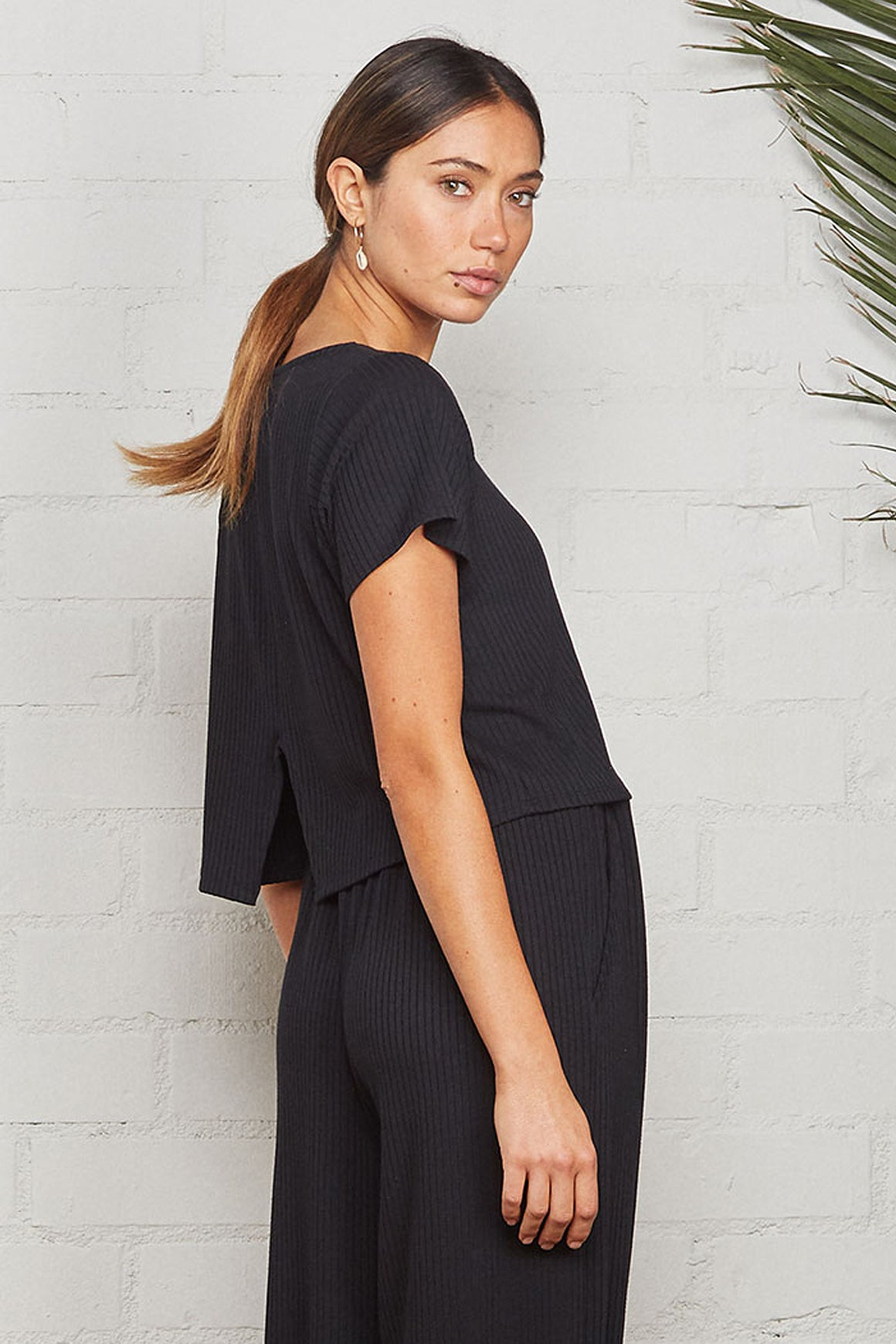 Cropped Rib Keith Top